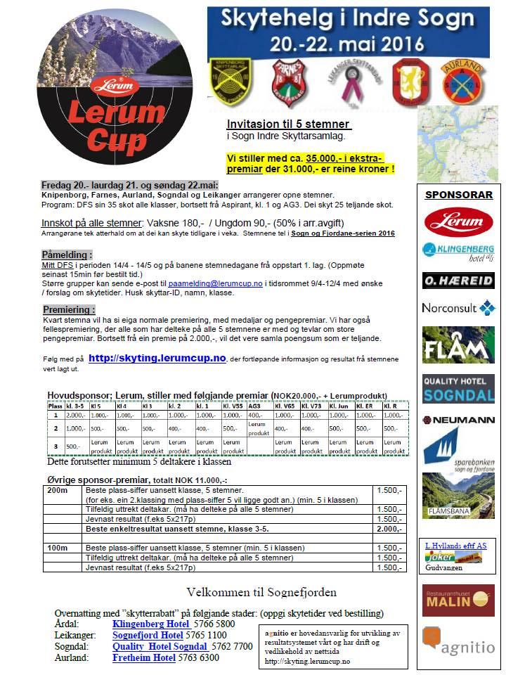 Invitasjon til årets Lerum Cup
